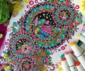 beautiful, design, and art.colorful.flower image