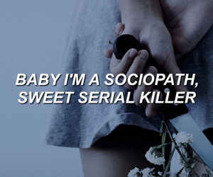 baby, serial killer, and sweet image