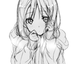 anime, drawing, and anime girl image
