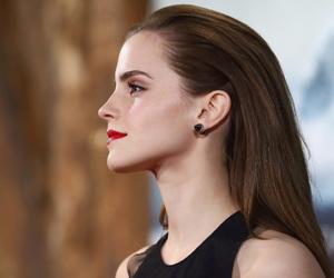 emma watson and red lips image
