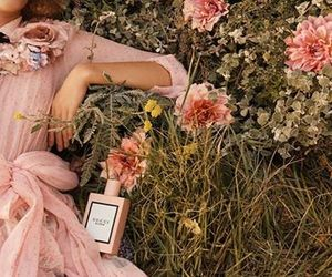 gucci, perfume, and flowers image