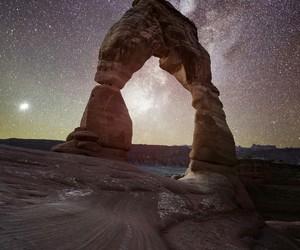 belleza, estrellas, and Noche image