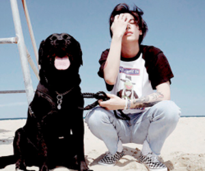 one, jung jaewon, and dog image