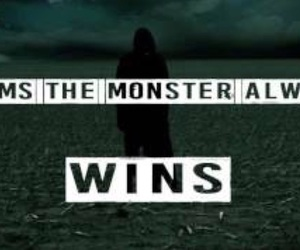 Lyrics, monster, and song image