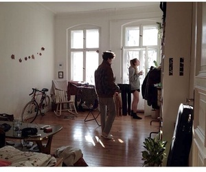 grunge, home, and couple image