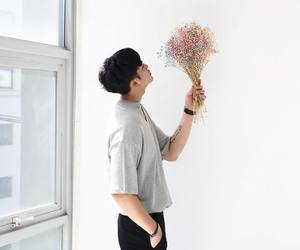 boy, flowers, and korean image