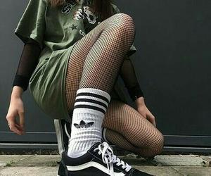 adidas, fashion, and green dress image