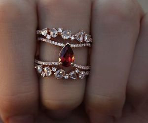jewel, red, and ring image