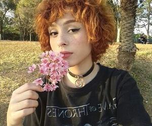 choker, hairstyle, and short hair image