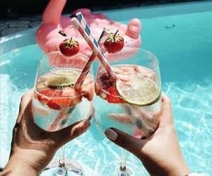 drinks, love, and paradise image