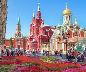 festival, flowers, and kremlin image