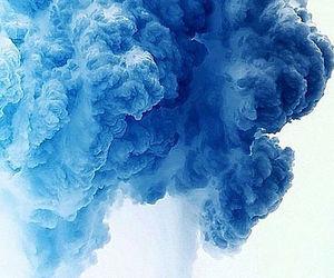blue and smoke image