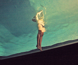 pool, swim, and under water image