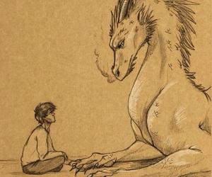 drawing, dragon, and fanart image