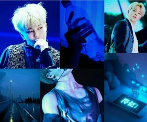 blue, moodboard, and bts image