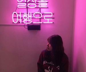 couple, neon, and neon light image