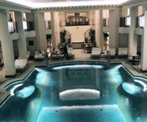 home, lavish, and pool image