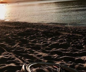 beach, bicycle, and summer image