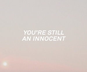 innocent, pink, and Lyrics image