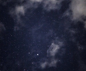 stars, moon, and sky image