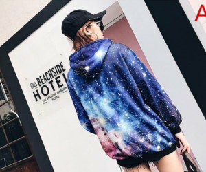 clothing, galaxy, and space image