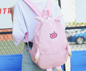 backpack, pink, and school image