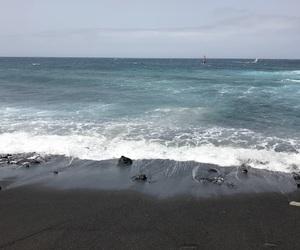 beach, black, and love image