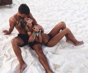 beach, boyfriend, and girl image