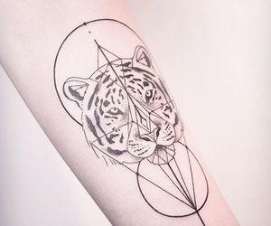art, geometric, and tattoo image