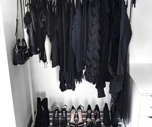 black, wardrobe, and fashion image