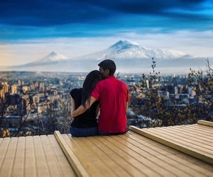 ararat, armenia, and couple image