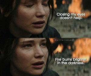 arch, fire, and Jennifer Lawrence image