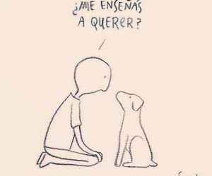 love, dog, and frases image