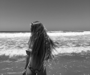 and, beach, and black image