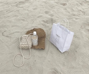 beach, picnic, and beige image