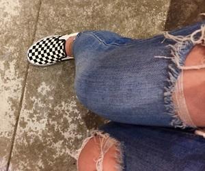 Bleu, checkerboard, and fashion image