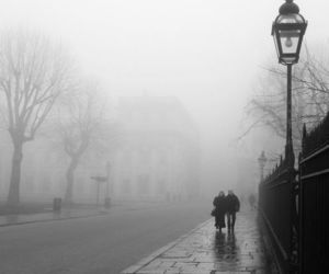 rain, couple, and black and white image