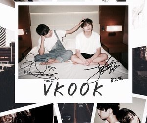v, jungkook, and bts image