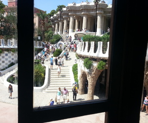 spagna, parc guell, and barcellona image
