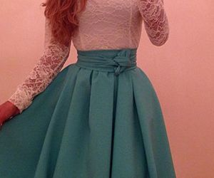 dress, teen fashion, and party dress image