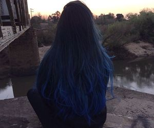 blue, blue hair, and colorful hair image