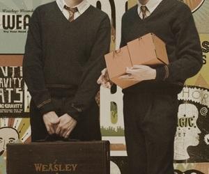 harrypotter, georgeweasley, and twins image