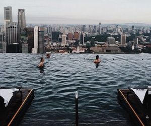city, pool, and travel image