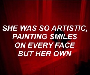 red, quotes, and smile image