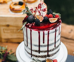 cake, delicious, and naked cake image