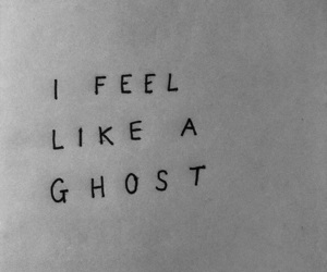 black and white, ghost, and indie image