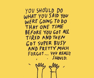 quotes, yellow, and words image