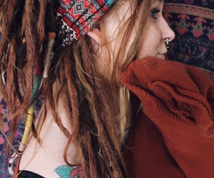 bohemian, dreadlocks, and dreads image