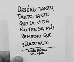 love, black and white, and frases image