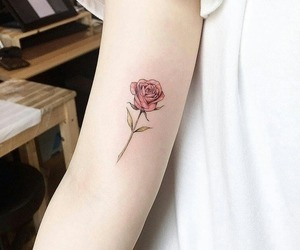 tattoo, rose, and aesthetic image